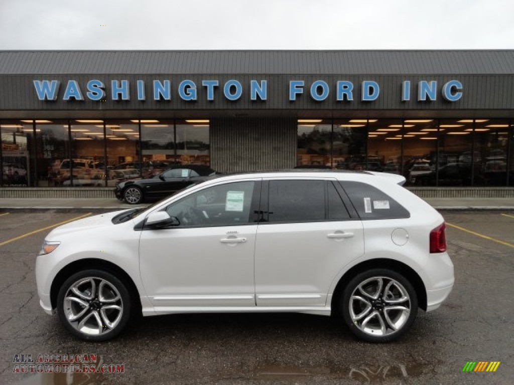 2012 ford edge sport awd in white platinum metallic tri coat a79000 all american automobiles. Black Bedroom Furniture Sets. Home Design Ideas