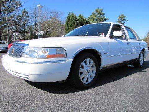 Vibrant White 2004 Mercury Grand Marquis LS