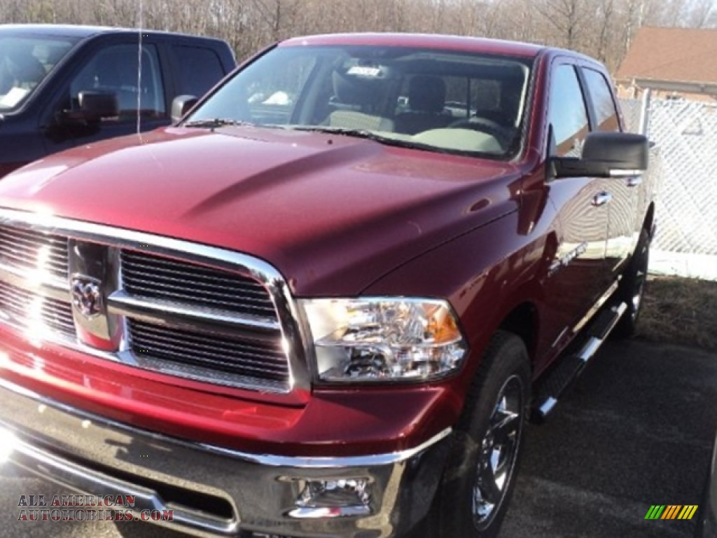 2012 dodge ram 1500 big horn crew cab 4x4 in deep cherry red crystal pearl 208904 all. Black Bedroom Furniture Sets. Home Design Ideas