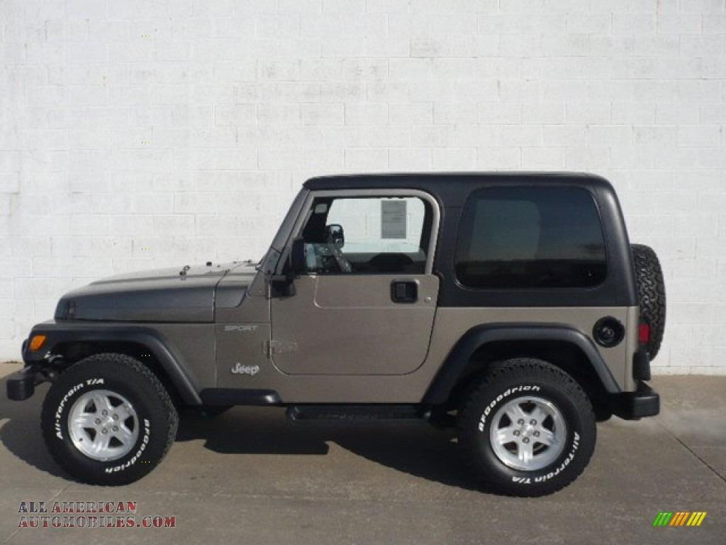 2004 Jeep Wrangler Sport 4x4 In Light Khaki Metallic
