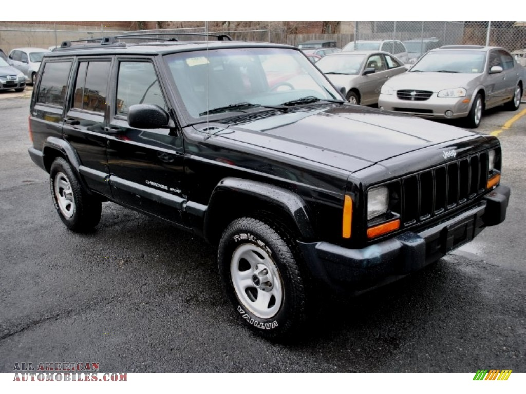 Ron Lewis Dodge >> 2001 Jeep Cherokee Sport 4x4 in Black photo #3 - 580890 | All American Automobiles - Buy ...