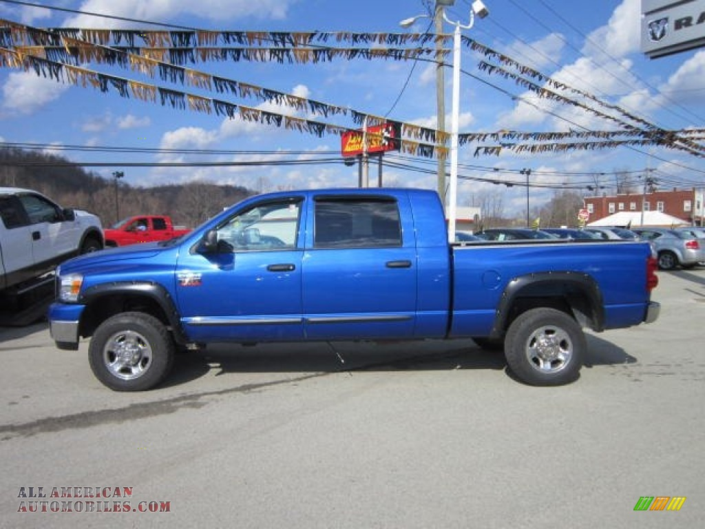 2007 Dodge Ram 2500 Slt Mega Cab 4x4 In Electric Blue Pearl Photo 2 803524 All American Automobiles Buy American Cars For Sale In America