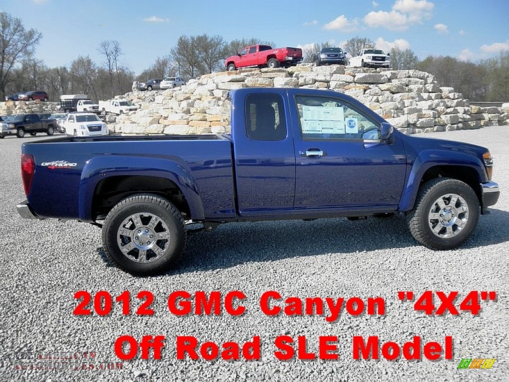 2012 GMC Canyon SLE Extended Cab 4x4 in Navy Blue - 139683 ...