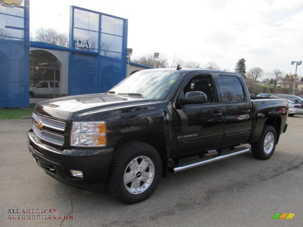 2012 chevrolet silverado 1500 lt crew cab 4x4 in black granite metallic 225809 all american. Black Bedroom Furniture Sets. Home Design Ideas