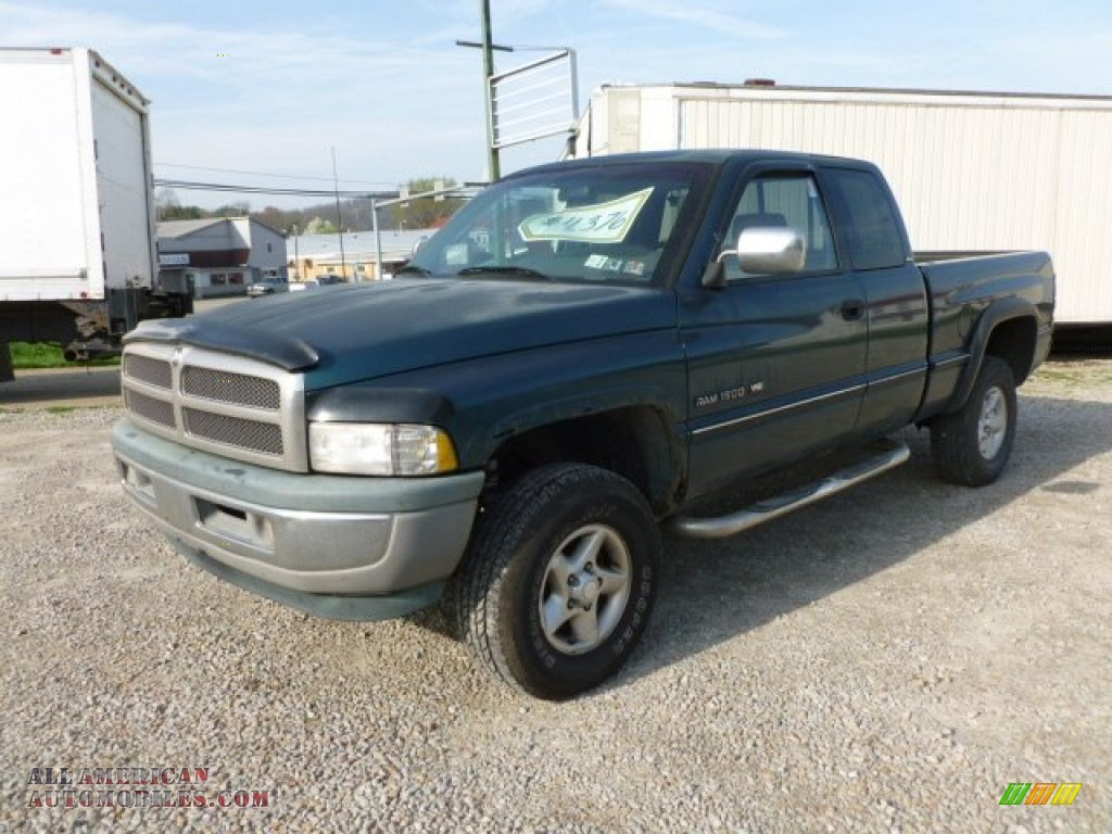 1997 dodge ram 1500 slt extended cab 4x4 in emerald green metallic 563928 all american. Black Bedroom Furniture Sets. Home Design Ideas