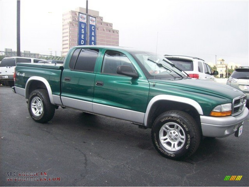 2003 dodge dakota slt quad cab 4x4 in timberline green pearl 205083 all american automobiles. Black Bedroom Furniture Sets. Home Design Ideas