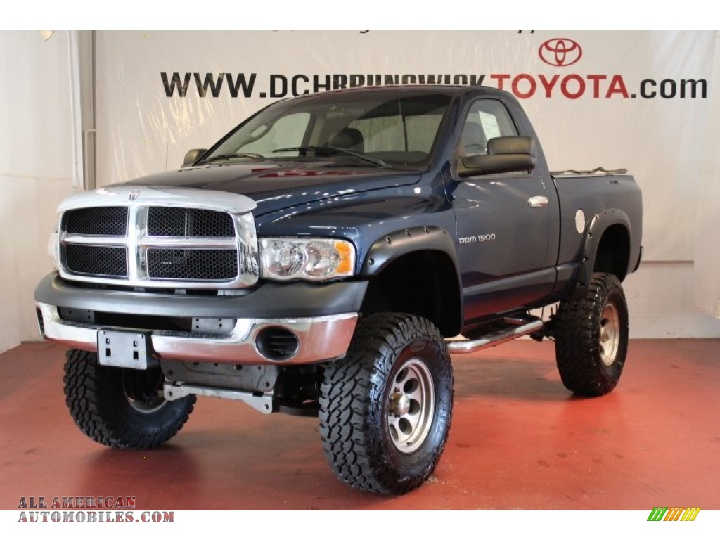 2004 dodge ram 1500 st regular cab 4x4 in patriot blue pearl 139755 all american automobiles. Black Bedroom Furniture Sets. Home Design Ideas