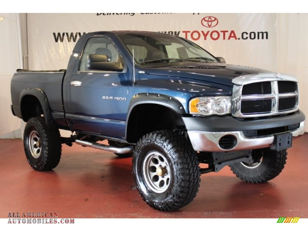 2004 dodge ram 1500 st regular cab 4x4 in patriot blue. Black Bedroom Furniture Sets. Home Design Ideas