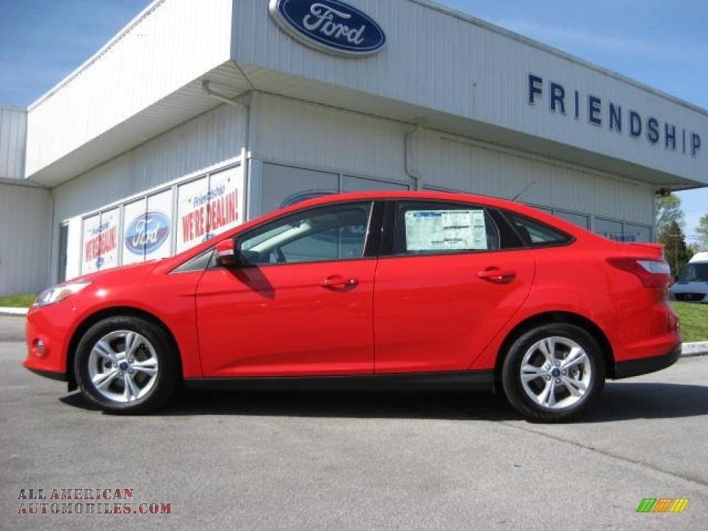 2012 Ford Focus Se Sport Sedan In Race Red 313981 All