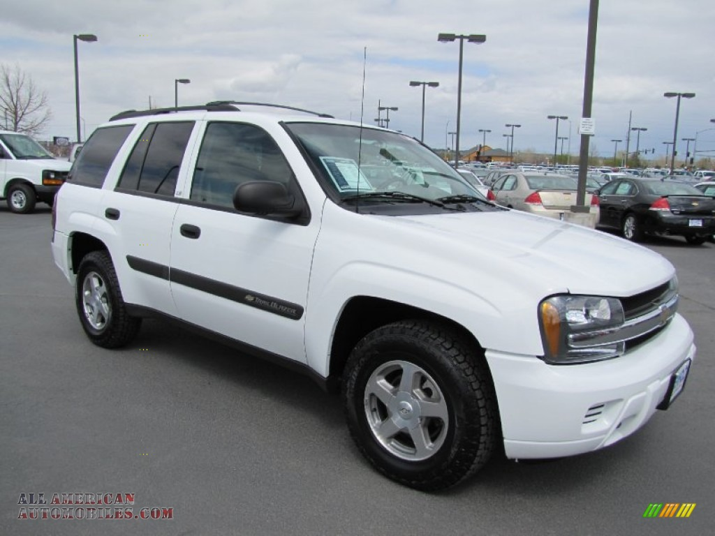 Summit White / Medium Pewter Chevrolet TrailBlazer LS 4x4
