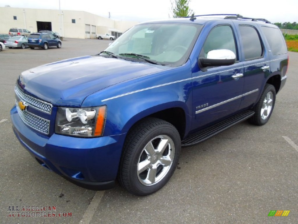 2012 chevrolet tahoe ltz 4x4 in blue topaz metallic 278495 all american automobiles buy. Black Bedroom Furniture Sets. Home Design Ideas