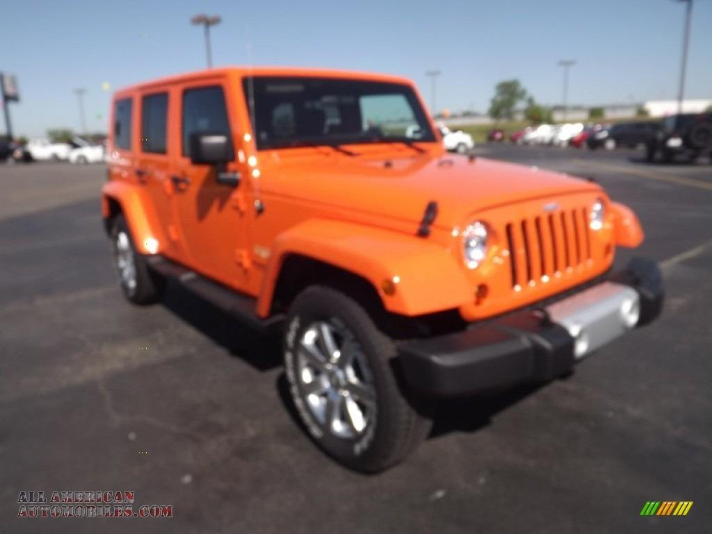 2012 Jeep Wrangler Unlimited Sahara 4x4 In Crush Orange