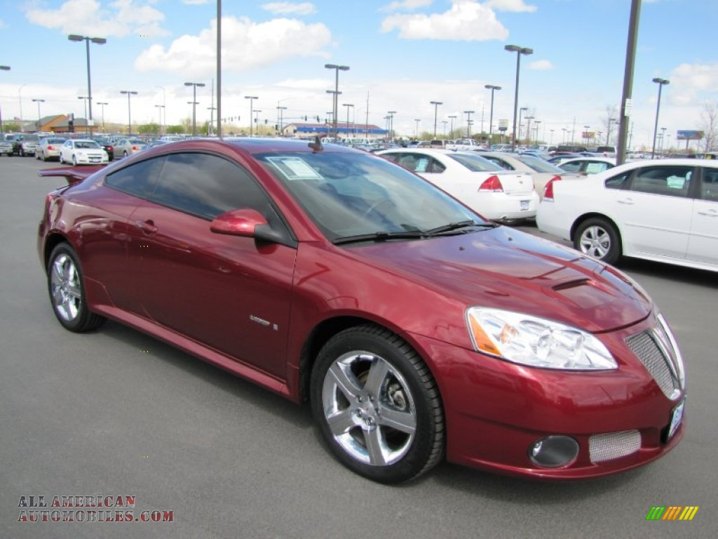 2008 pontiac g6 gxp coupe in performance red metallic 181833 all american automobiles buy. Black Bedroom Furniture Sets. Home Design Ideas