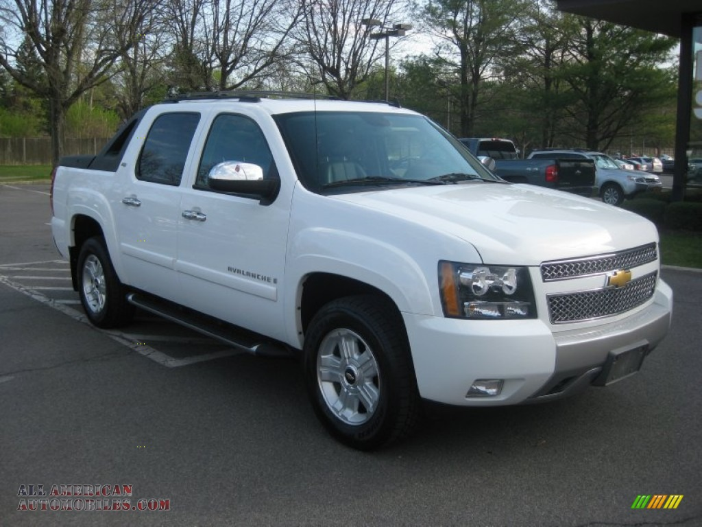 2009 chevrolet avalanche z71 4x4 in summit white 211136 all american automobiles buy. Black Bedroom Furniture Sets. Home Design Ideas