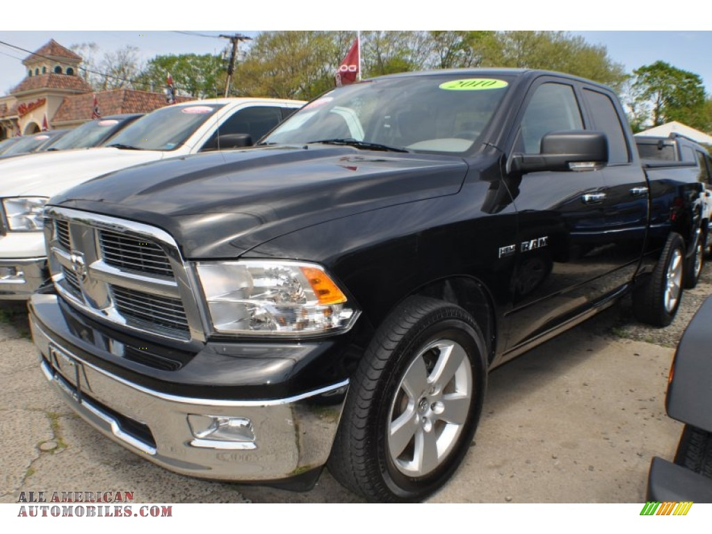 2010 dodge ram 1500 big horn quad cab 4x4 in brilliant black crystal pearl 183845 all. Black Bedroom Furniture Sets. Home Design Ideas