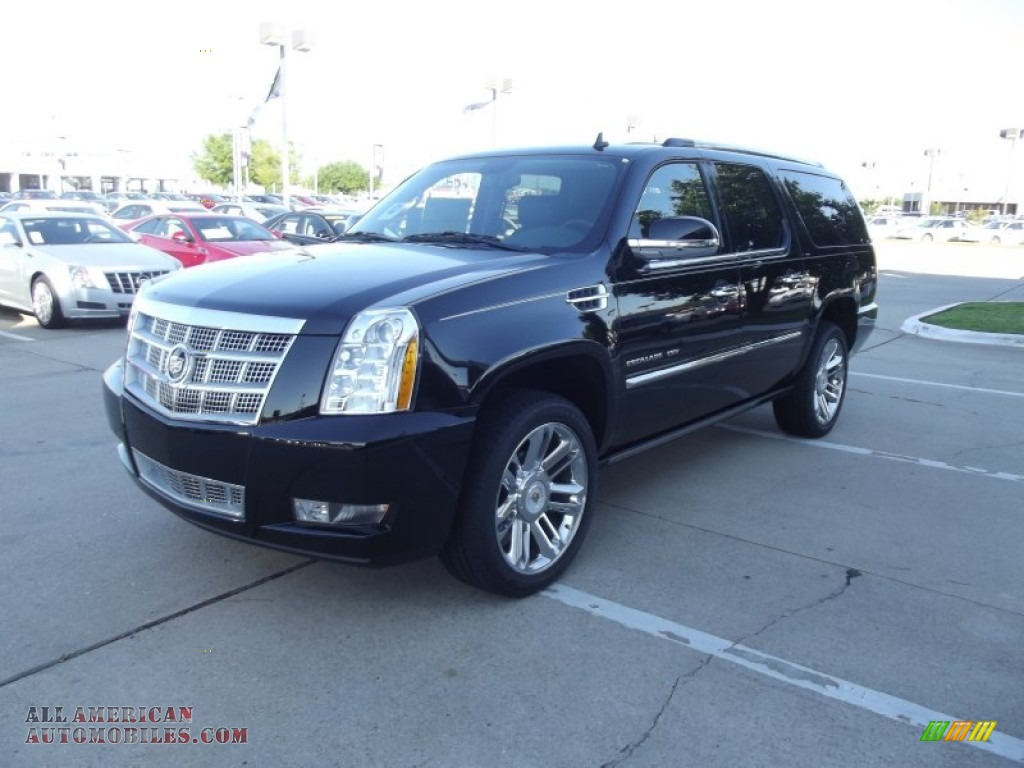 2012 cadillac escalade esv platinum in black raven. Black Bedroom Furniture Sets. Home Design Ideas