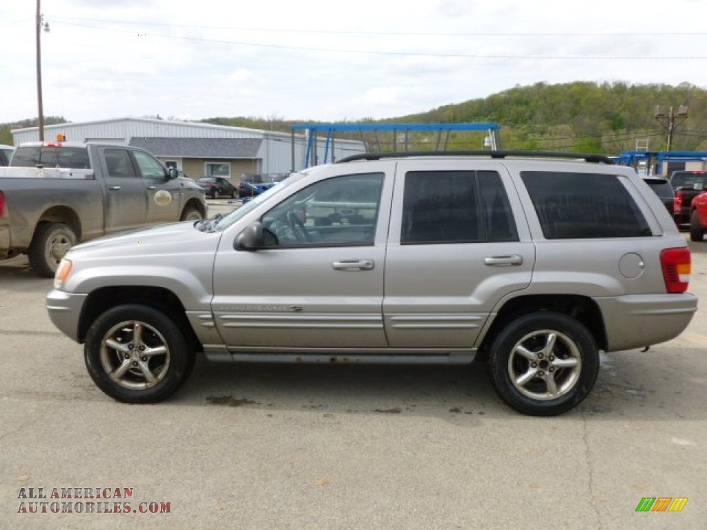 2002 jeep grand cherokee overland 4x4 in silverstone metallic 107848 all american. Black Bedroom Furniture Sets. Home Design Ideas
