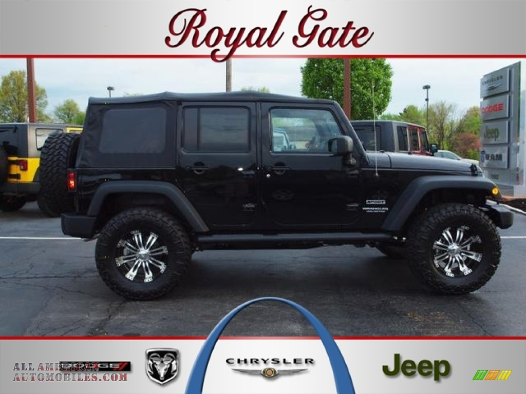 2012 jeep wrangler unlimited sport s 4x4 in black 193722 for Royal chrysler motors inc