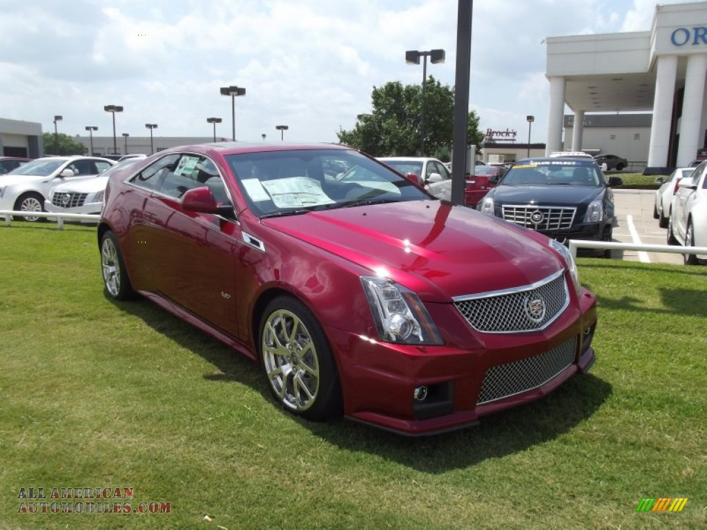 2012 cadillac cts v coupe in crystal red tintcoat photo 2 148469 all american automobiles. Black Bedroom Furniture Sets. Home Design Ideas