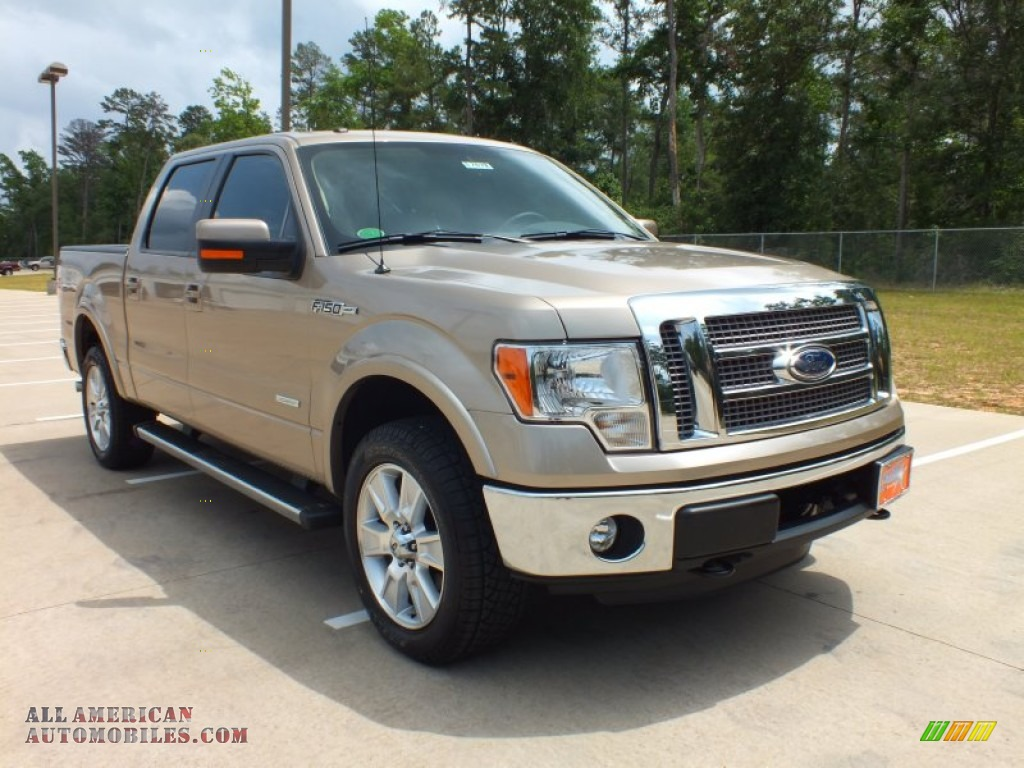 2012 ford f150 lariat supercrew 4x4 in pale adobe metallic a69369 all american automobiles. Black Bedroom Furniture Sets. Home Design Ideas