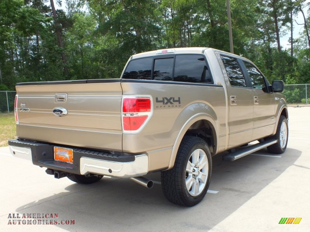 2012 ford f150 lariat supercrew 4x4 in pale adobe metallic photo 5 a69369 all american. Black Bedroom Furniture Sets. Home Design Ideas