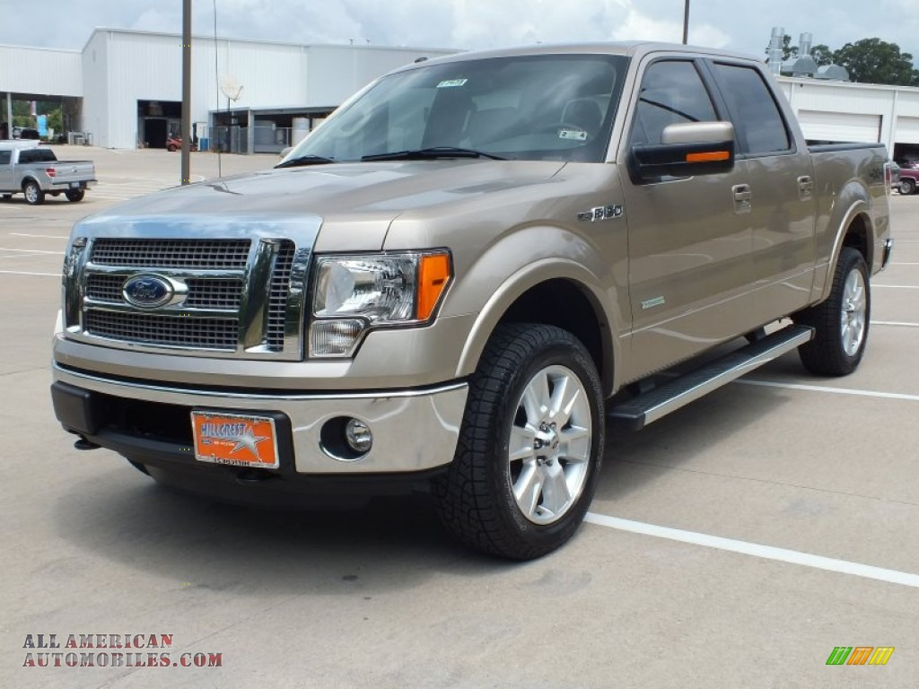 2012 ford f150 lariat supercrew 4x4 in pale adobe metallic photo 9 a69369 all american. Black Bedroom Furniture Sets. Home Design Ideas