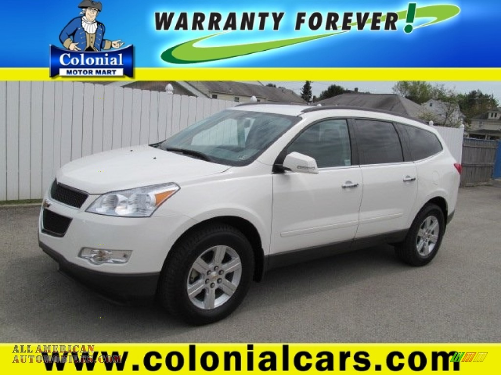 2012 Chevrolet Traverse Lt Awd In White 119726 All