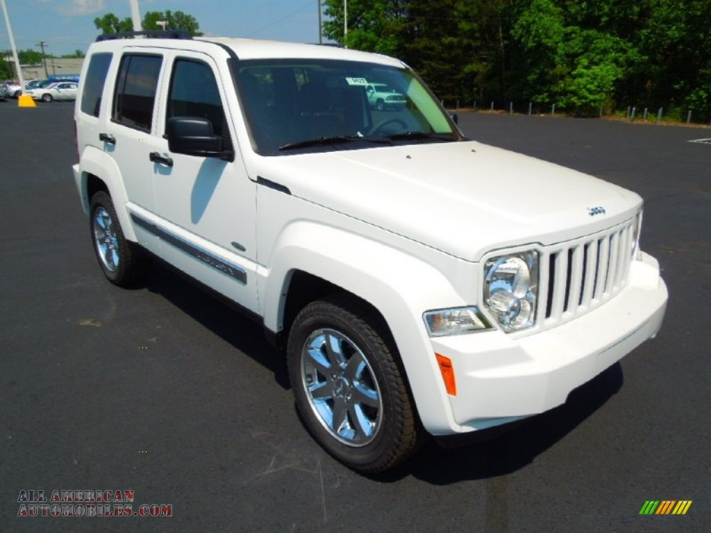 2012 jeep liberty sport 4x4 in bright white 172510 all american automobiles buy american. Black Bedroom Furniture Sets. Home Design Ideas
