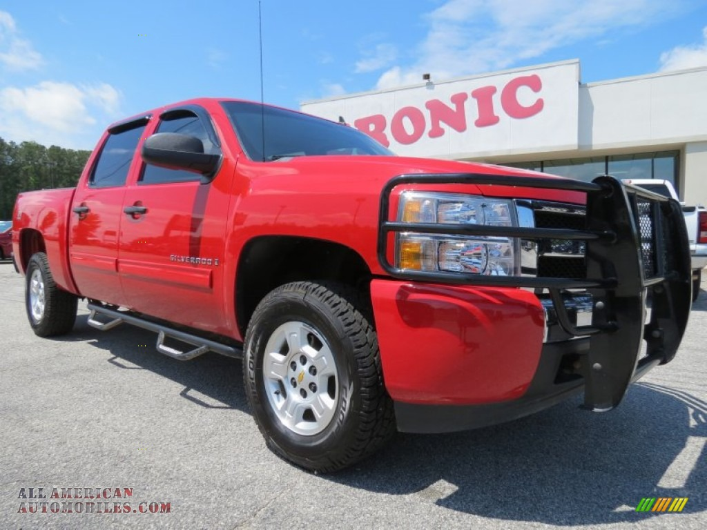 2009 chevrolet silverado 1500 lt z71 crew cab 4x4 in victory red 141590 all american. Black Bedroom Furniture Sets. Home Design Ideas