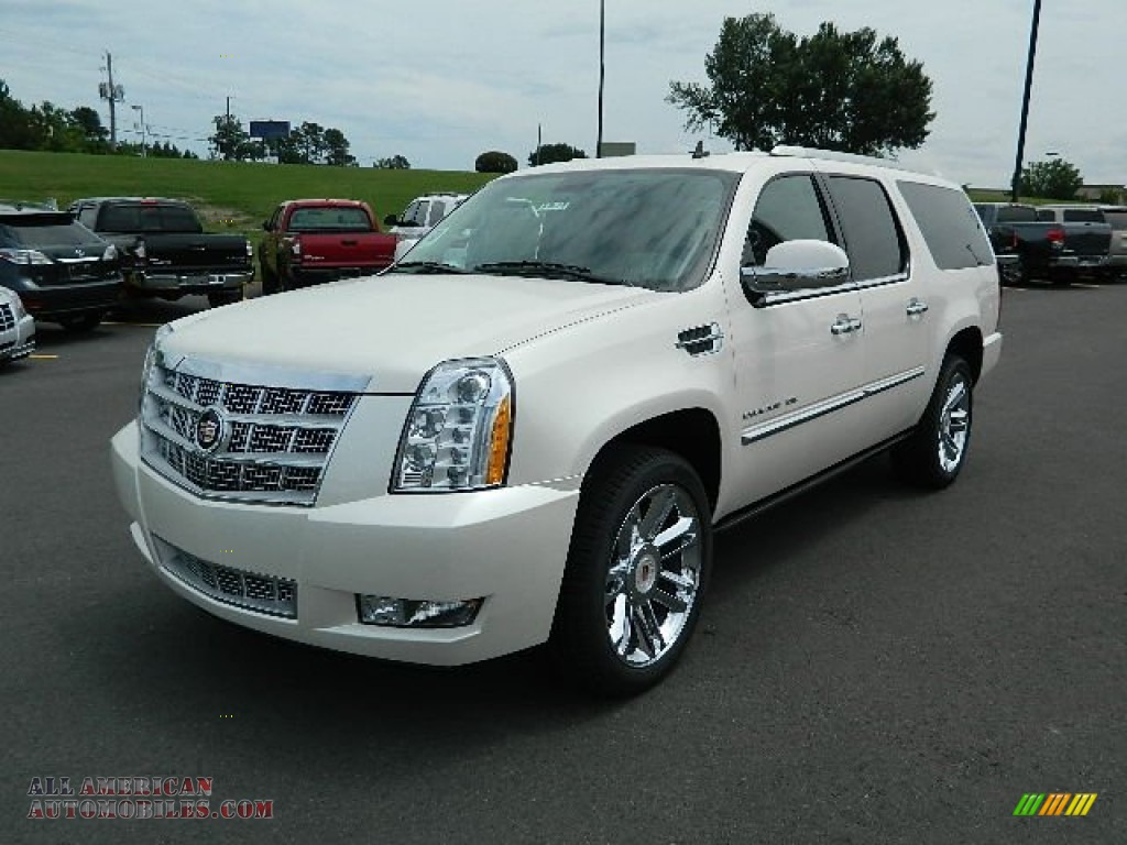 2012 cadillac escalade esv platinum awd in white diamond. Black Bedroom Furniture Sets. Home Design Ideas