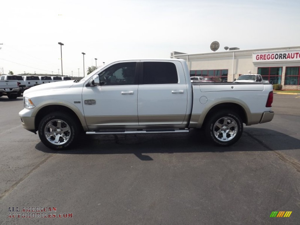 2011 Dodge Ram 1500 Laramie Longhorn Crew Cab 4x4 In Bright White Photo 8 601125 All