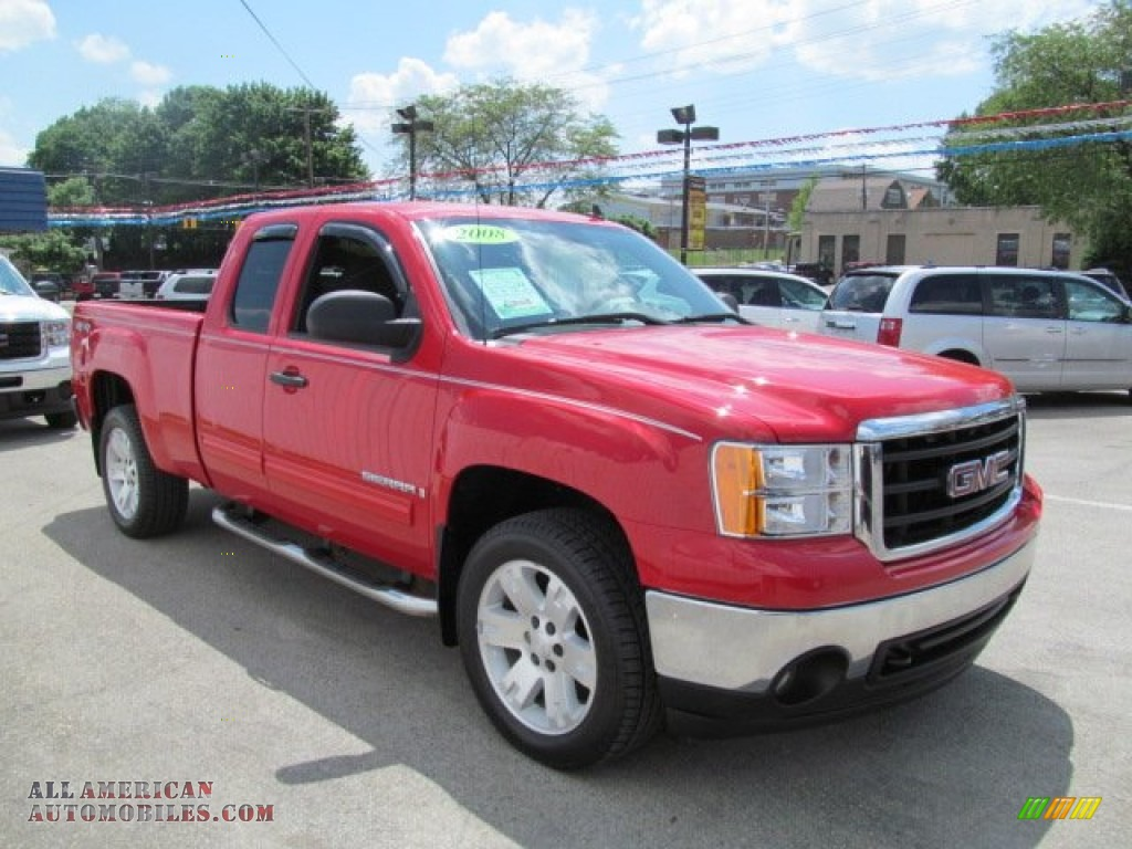 2008 gmc sierra 1500 sle extended cab 4x4 in fire red. Black Bedroom Furniture Sets. Home Design Ideas