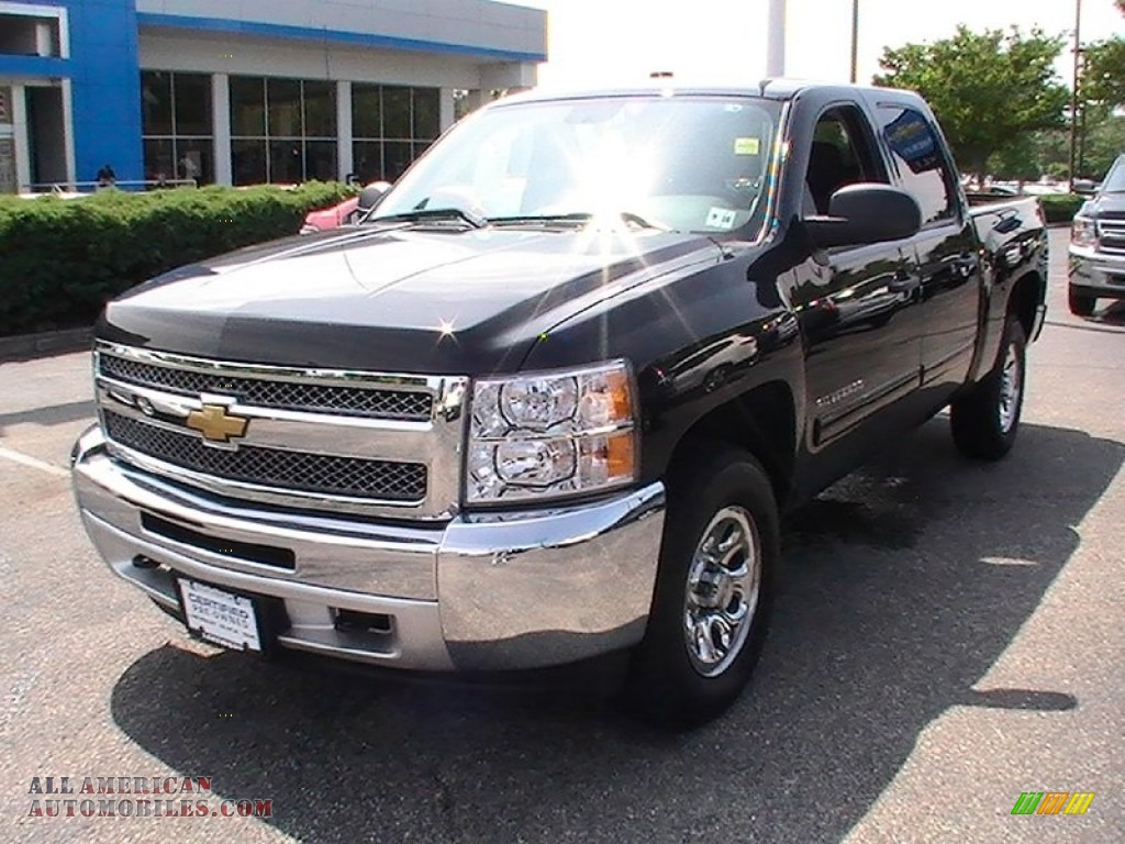 2012 chevrolet silverado 1500 lt crew cab 4x4 in black 101372 all american automobiles buy. Black Bedroom Furniture Sets. Home Design Ideas