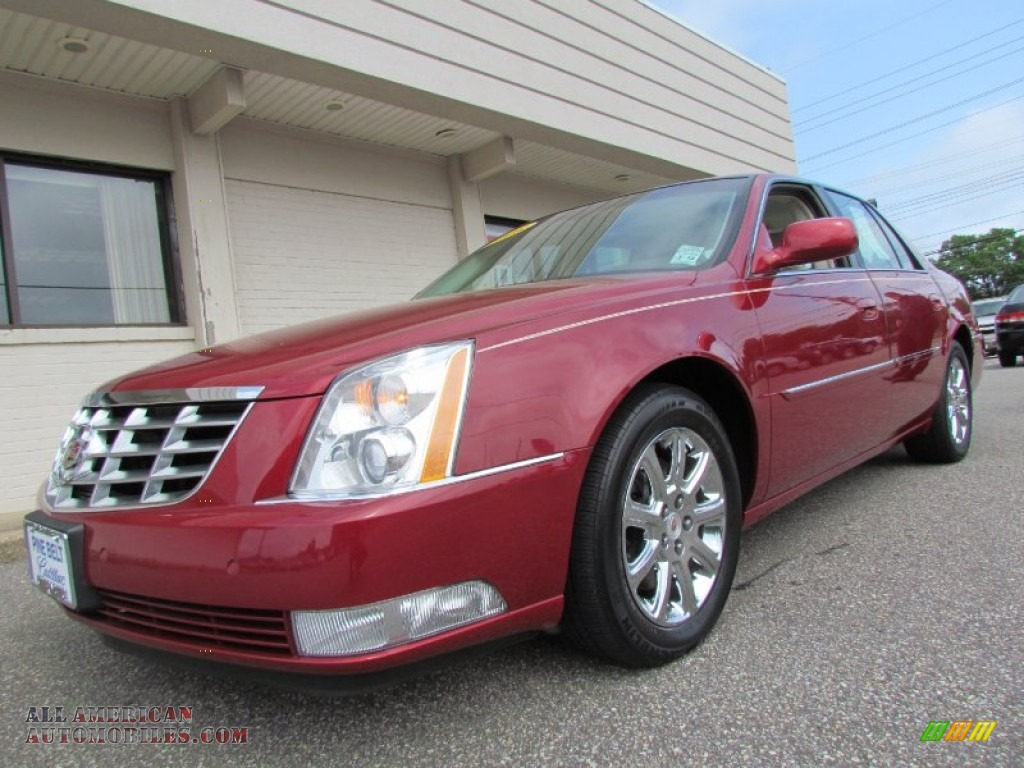 2008 cadillac dts in crystal red 169672 all american automobiles buy american cars for. Black Bedroom Furniture Sets. Home Design Ideas