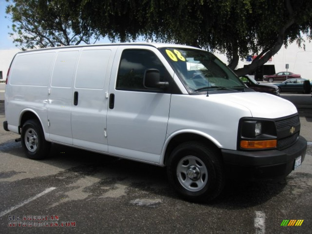 2008 chevrolet express 1500 cargo van in summit white photo 11 124595 all american. Black Bedroom Furniture Sets. Home Design Ideas
