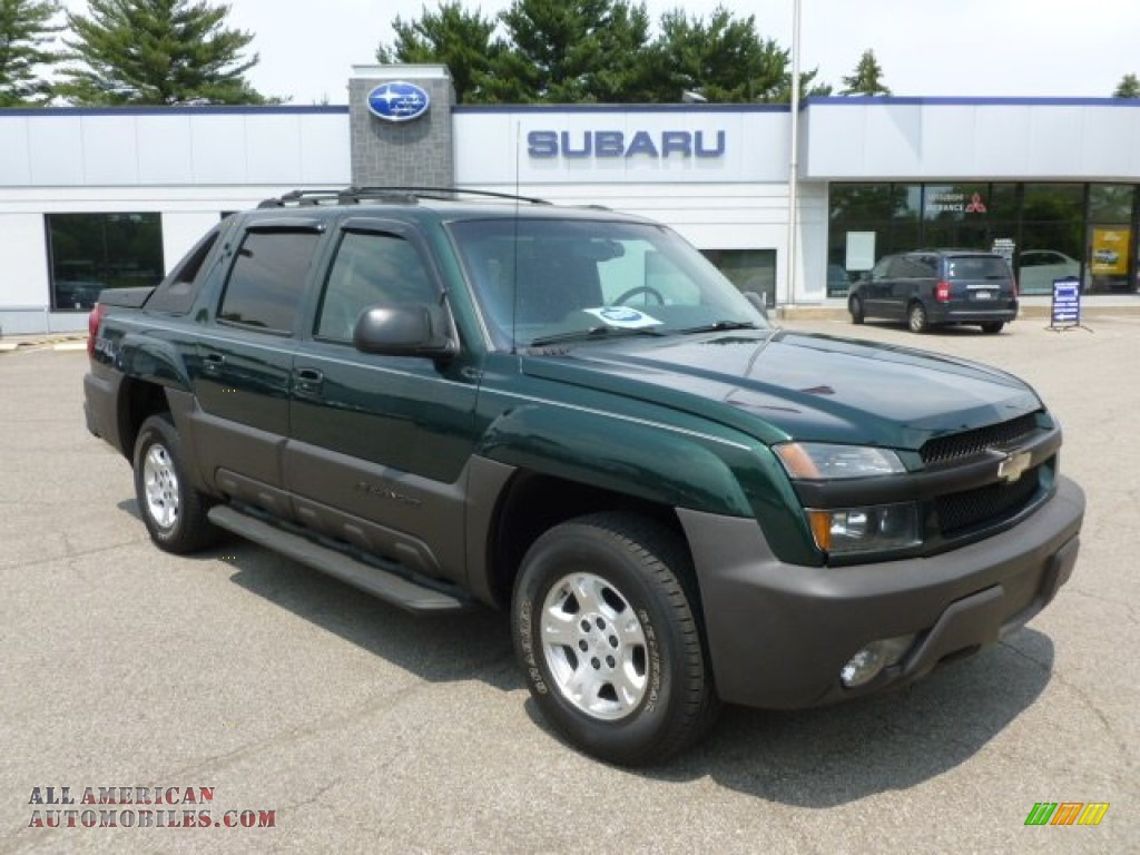 2003 chevrolet avalanche 1500 z71 4x4 in dark green metallic 176407 all american automobiles. Black Bedroom Furniture Sets. Home Design Ideas