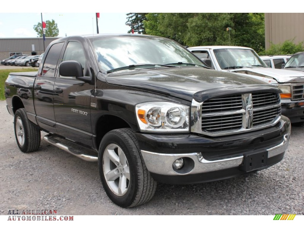 2007 dodge ram 1500 slt quad cab 4x4 in brilliant black crystal pearl 135518 all american. Black Bedroom Furniture Sets. Home Design Ideas