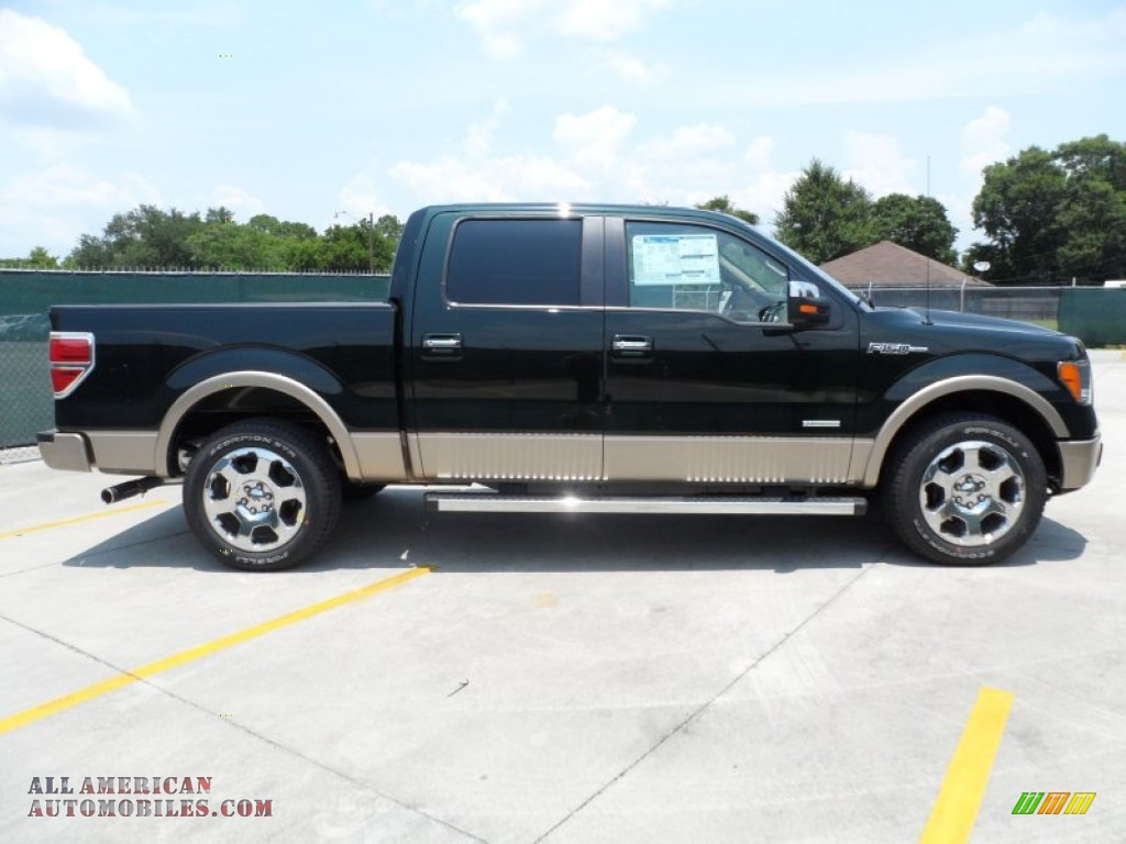 2012 ford f150 lariat supercrew in green gem metallic photo 2 d84934 all american. Black Bedroom Furniture Sets. Home Design Ideas