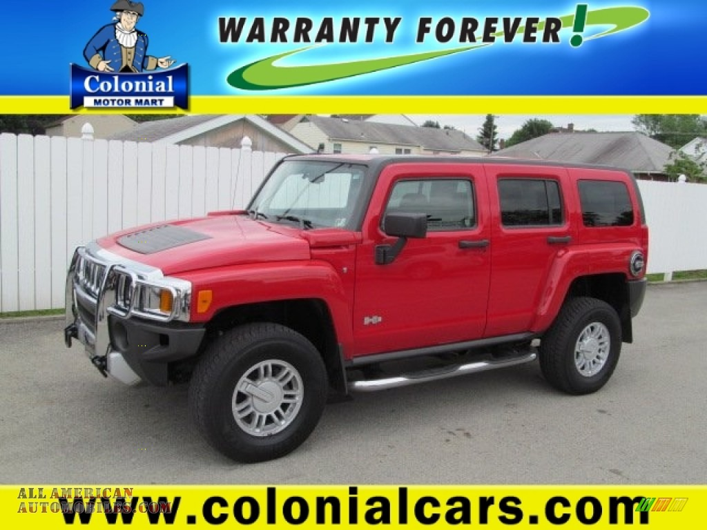 2009 hummer h3 in victory red 118482 all american for Colonial motors indiana pa