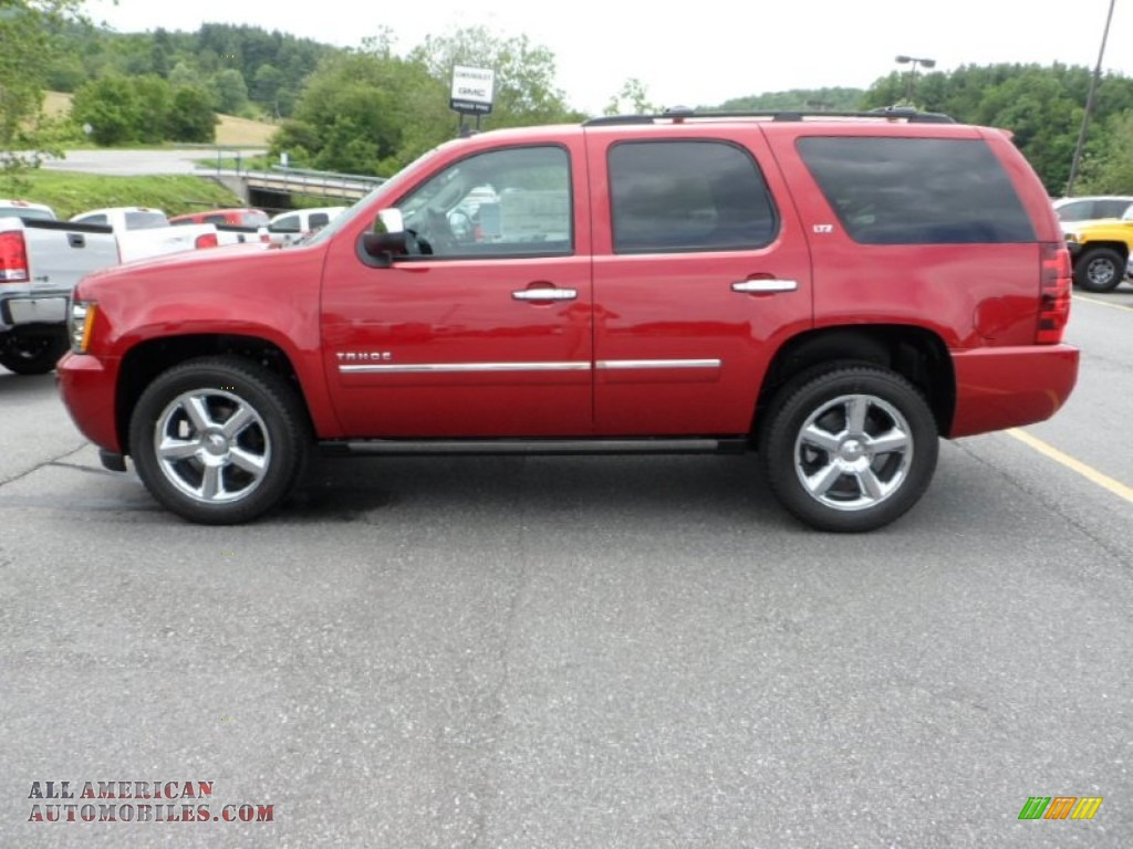 2012 chevrolet tahoe ltz 4x4 in crystal red tintcoat 319571 all american automobiles buy. Black Bedroom Furniture Sets. Home Design Ideas