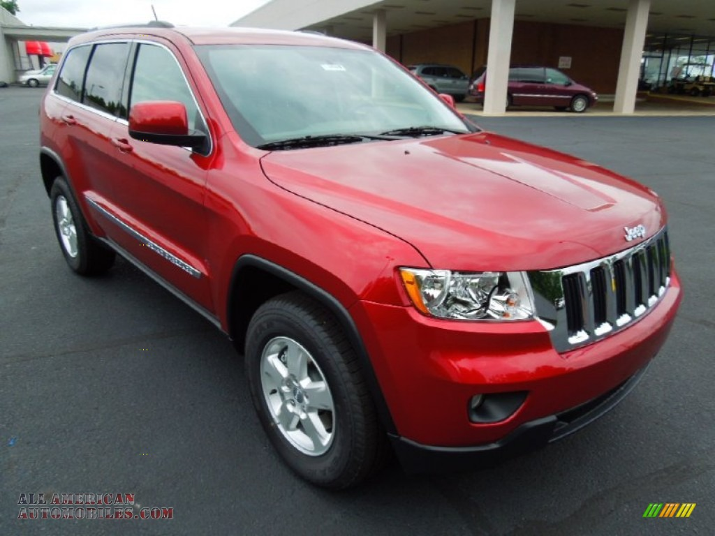 2012 jeep grand cherokee laredo in deep cherry red crystal pearl 355217 all american. Black Bedroom Furniture Sets. Home Design Ideas