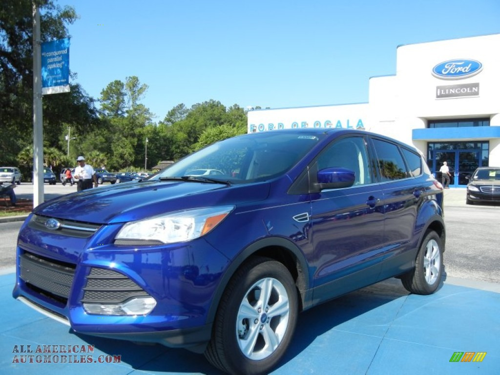 Deep Impact Blue Metallic / Medium Light Stone Ford Escape SE 1.6L EcoBoost