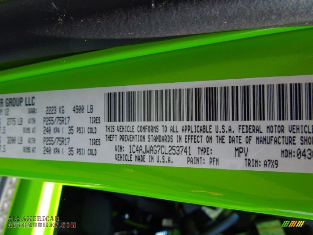 2012 Jeep Wrangler Sport S 4x4 In Gecko Green Photo 8