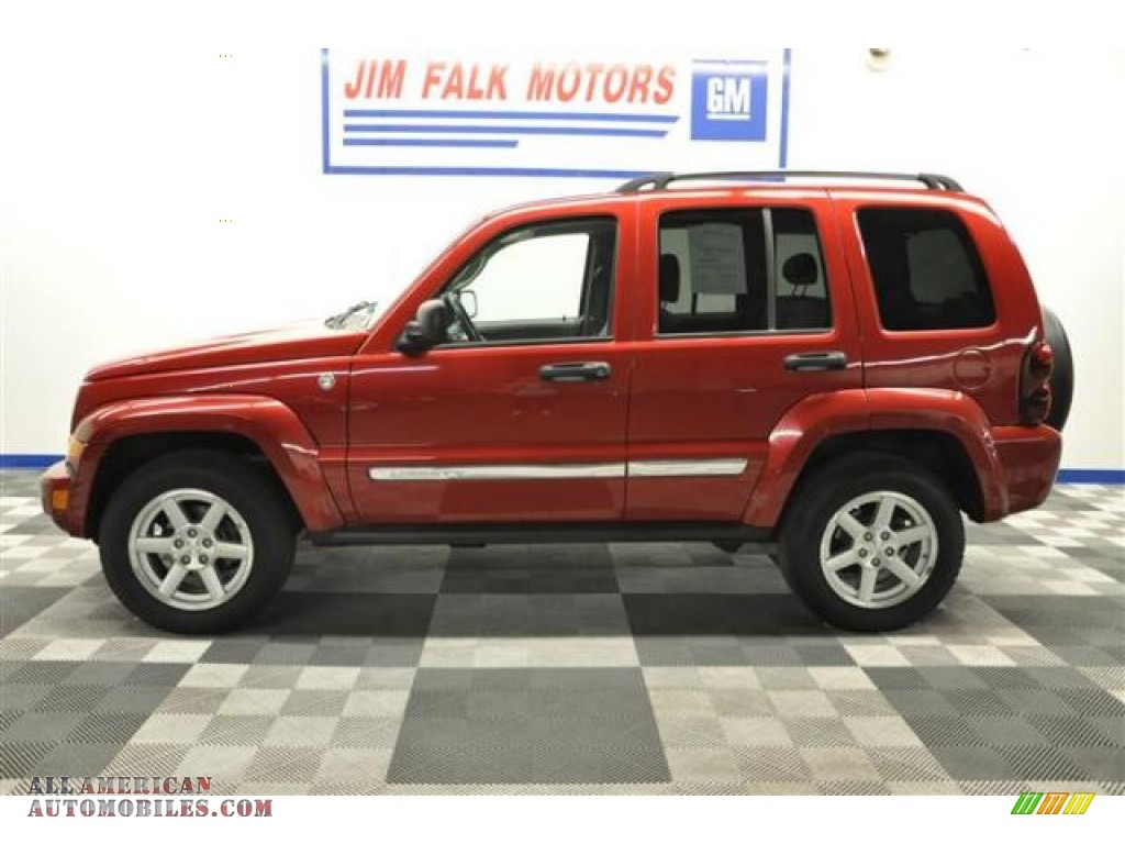 2007 jeep liberty limited 4x4 in inferno red crystal pearl for Jim falk motors clinton missouri