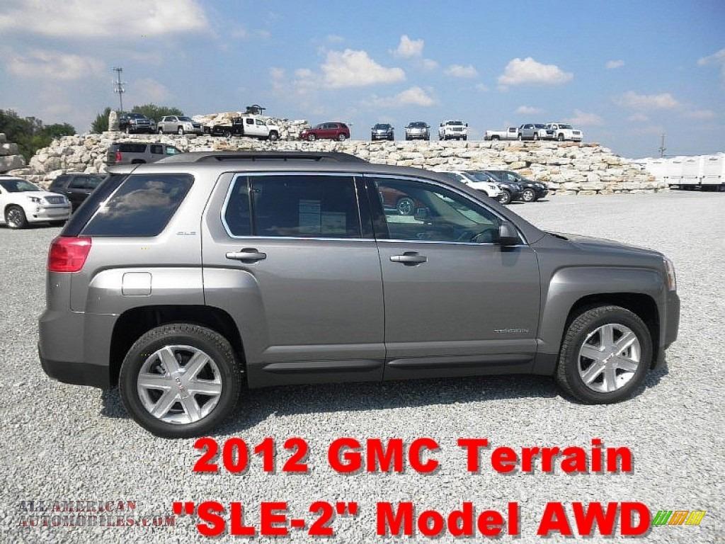 2012 gmc terrain sle awd in steel gray metallic 370113 all american automobiles buy. Black Bedroom Furniture Sets. Home Design Ideas