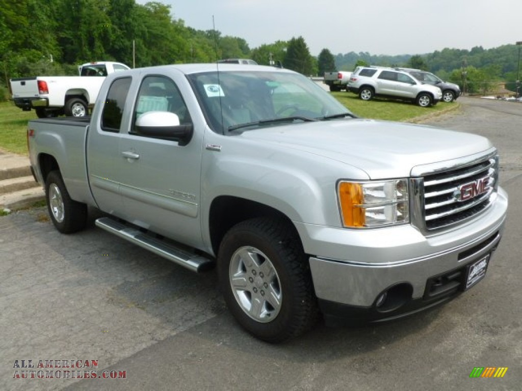 2012 gmc sierra 1500 slt z71 extended cab 4x4 in quicksilver metallic 241152 all american. Black Bedroom Furniture Sets. Home Design Ideas