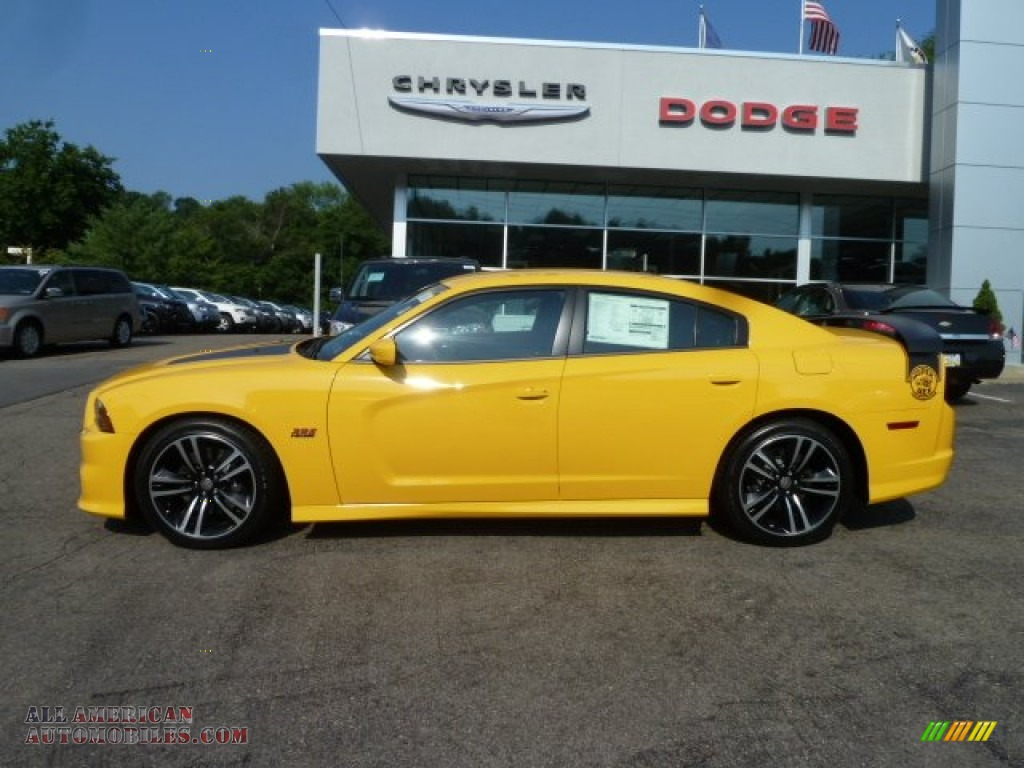 2012 dodge charger srt8 super bee in stinger yellow photo 2 298348 all american automobiles. Black Bedroom Furniture Sets. Home Design Ideas