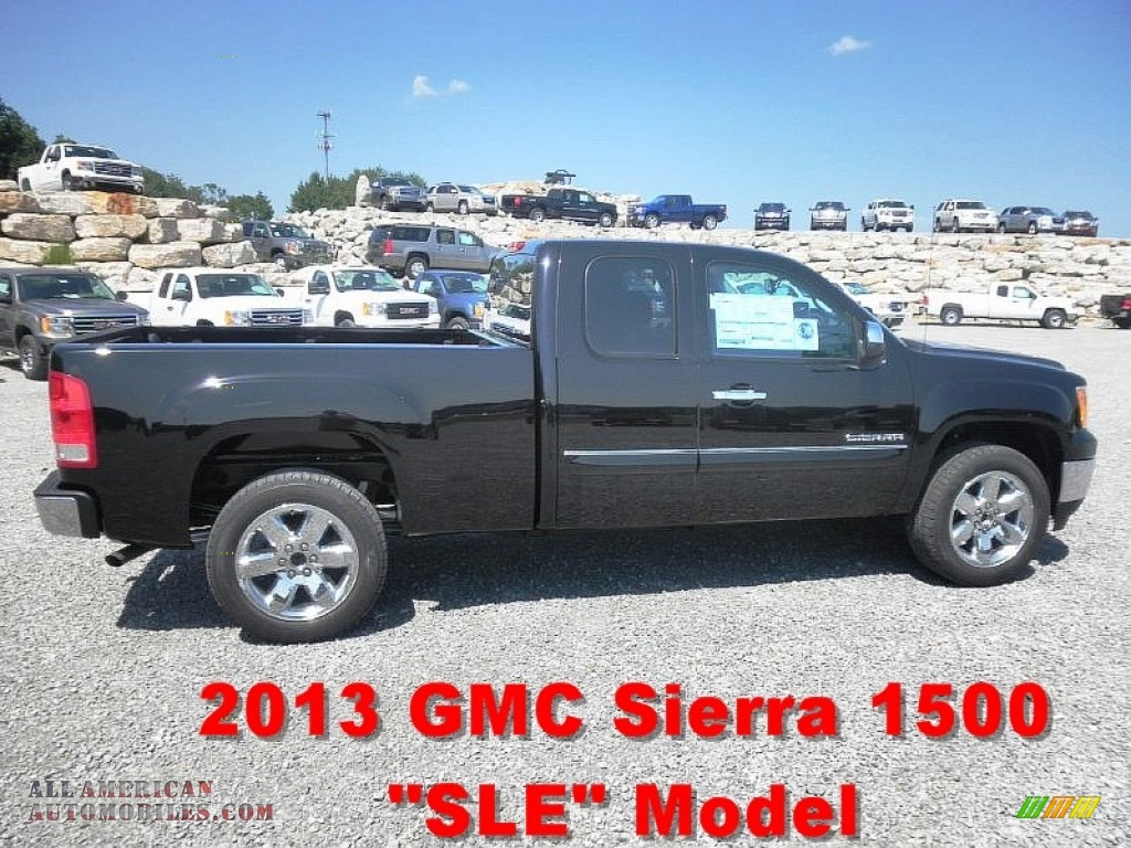 2013 gmc sierra 1500 sle extended cab in onyx black 114956 all american automobiles buy. Black Bedroom Furniture Sets. Home Design Ideas