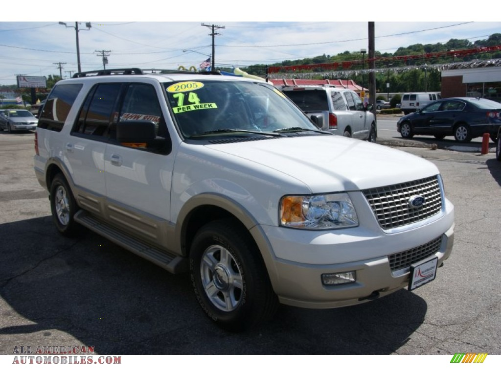 2005 ford expedition eddie bauer 4x4 in oxford white photo 3 a26352 all american. Black Bedroom Furniture Sets. Home Design Ideas