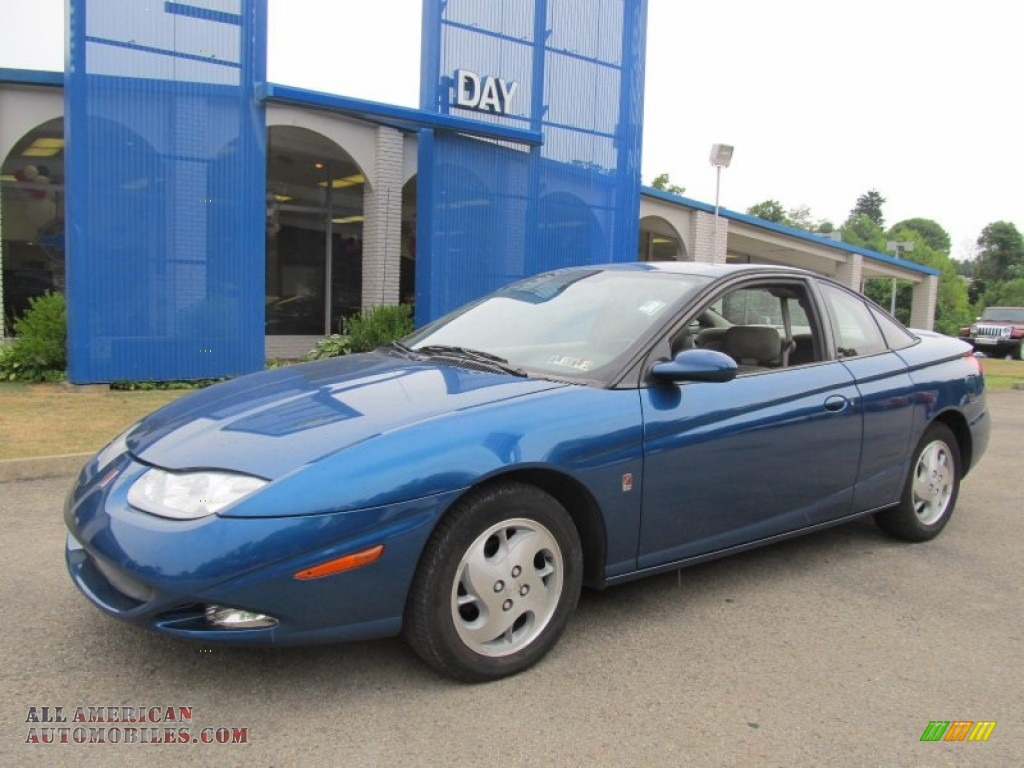 2002 saturn s series sc2 coupe in blue 204050 all american automobiles buy american cars. Black Bedroom Furniture Sets. Home Design Ideas